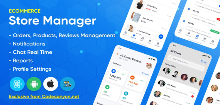 Item cover for download Store Manager - React Native Application for Wordpress Woocomerce