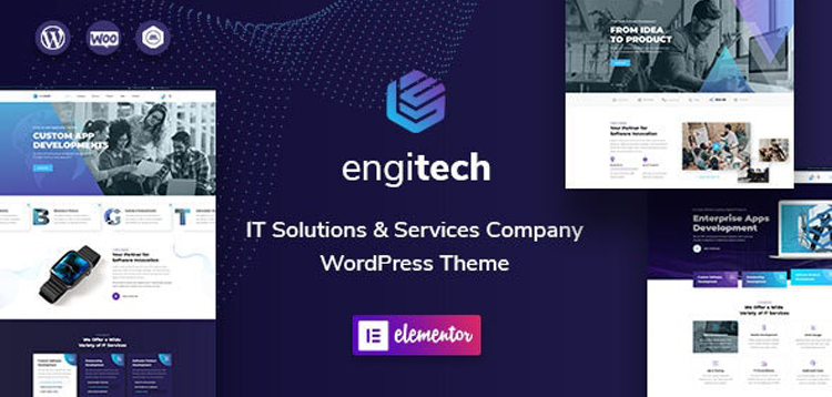 Item cover for download Engitech - IT Solutions & Services WordPress Theme