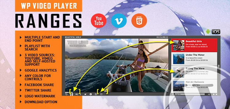Item cover for download RANGES - Video Player With Multiple Start and End Points - WordPress Plugin