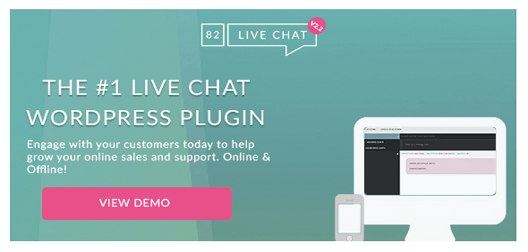 Item cover for download 82 Live Chat - Customer Live Chat WordPress Plugin