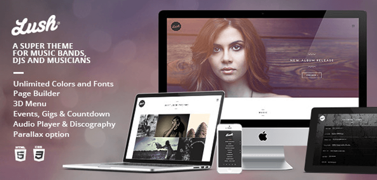 Item cover for download Lush - Music Band  Musician WordPress Theme