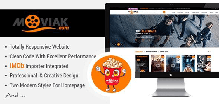 Item cover for download AmyMovie - Movie and Cinema WordPress Theme