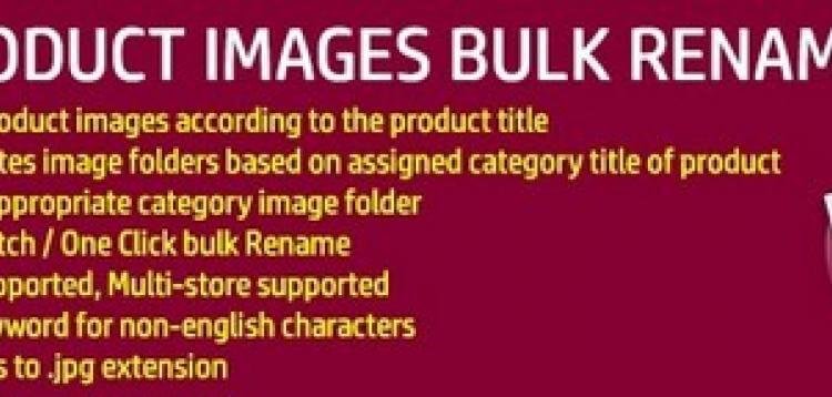 Item cover for download Product Image Bulk Rename - SEO Image Name