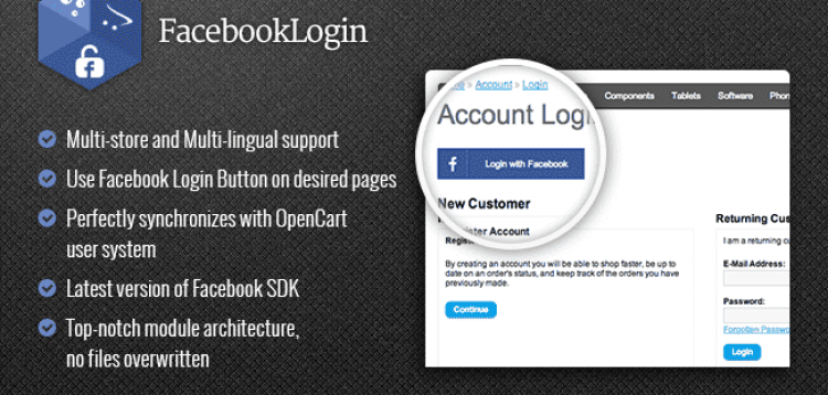 Item cover for download Facebook Login Button - Powerful Plug-and-Play Login Button